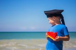 Kid dreams of sailing Royalty Free Stock Photos