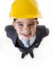 Kid dressed up as a business person Royalty Free Stock Photos