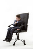 Kid dressed up as a business person Royalty Free Stock Photo