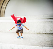 Kid Dressup Superhero Fly Concept. Kid Dressup Superhero Fly Imagination Royalty Free Stock Photography