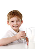 Kid drinking milk Royalty Free Stock Photo