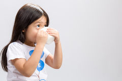 Kid Drinking Milk / Kid Drinking Milk Background Royalty Free Stock Images