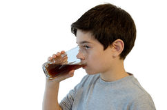 Kid drinking soft drink Stock Photography