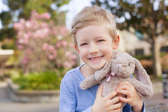 Kid at easter time Royalty Free Stock Images