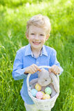 Kid at easter time Stock Photo