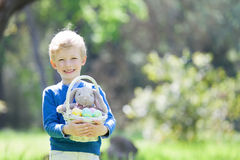 Kid at easter time Stock Image