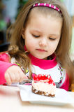 Kid eating Royalty Free Stock Photos