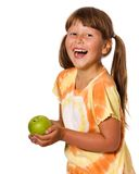 Kid eating apple Royalty Free Stock Image