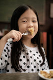 Kid Eating Pastry Snack, Vintage Stock Photography
