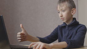 Kid ends up chatting online stock footage