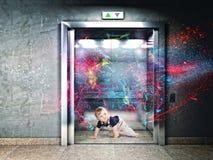 Kid energy Stock Image