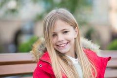 Kid enjoy autumn day Royalty Free Stock Photography