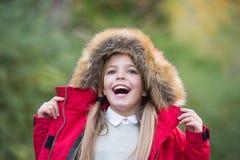 Kid enjoy autumn nature Royalty Free Stock Photos