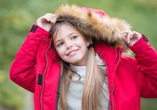 Kid enjoy autumn nature Royalty Free Stock Images