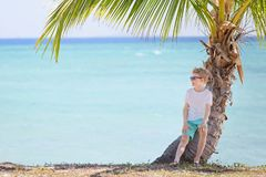 Kid enjoying vacation Stock Images