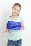 Kid and european flag Stock Images