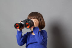 Kid exploration concept for education Royalty Free Stock Images