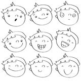 Kid expressions Stock Photography