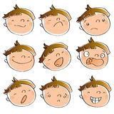 Kid expressions Royalty Free Stock Photos