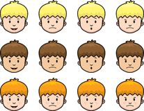 Kid Face. A series of emotional kid faces Stock Image