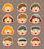 Kid face stickers Stock Photo