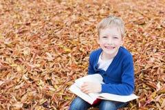 Kid at fall Stock Photos