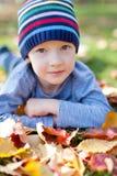 Kid at fall Royalty Free Stock Photography
