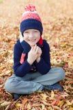 Kid at fall Royalty Free Stock Images