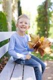 Kid at fall Royalty Free Stock Photo