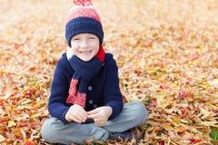 Kid at fall Stock Image