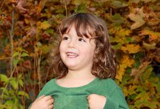 Kid during fall Royalty Free Stock Photography