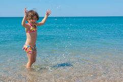 Kid on family summer beach vacation Royalty Free Stock Images