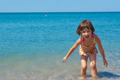 Kid on family summer beach vacation Royalty Free Stock Image