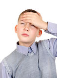 Kid feel Headache Stock Photos