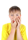 Kid feels Toothache Stock Photography