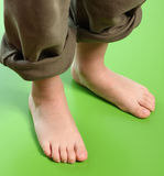 Kid feet Stock Photo