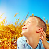 Kid in the Field Royalty Free Stock Photo