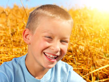 Kid in the Field Stock Photos