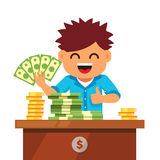 Kid finances and savings concept Stock Images