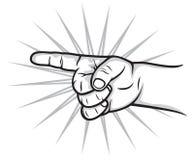 Kid finger pointer. Vector illustration of kid finger pointer Royalty Free Stock Images