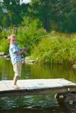 Kid fishing Royalty Free Stock Image