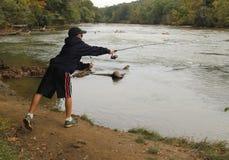 Kid fishing Stock Photos
