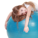 Kid on fit ball Stock Photography