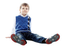Kid on a floor Royalty Free Stock Photo