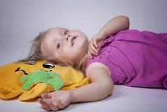 Kid on floor Stock Image