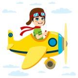 Kid Flying Plane Stock Photos