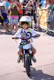 A kid at the FMX (Freestyle Motocross) junior competition at LKXA Extreme Sports Barcelona Stock Photo