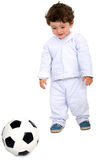 Kid with a football Royalty Free Stock Photos