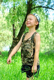 Kid In The Forest Royalty Free Stock Photography
