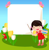 Kid frame Stock Images